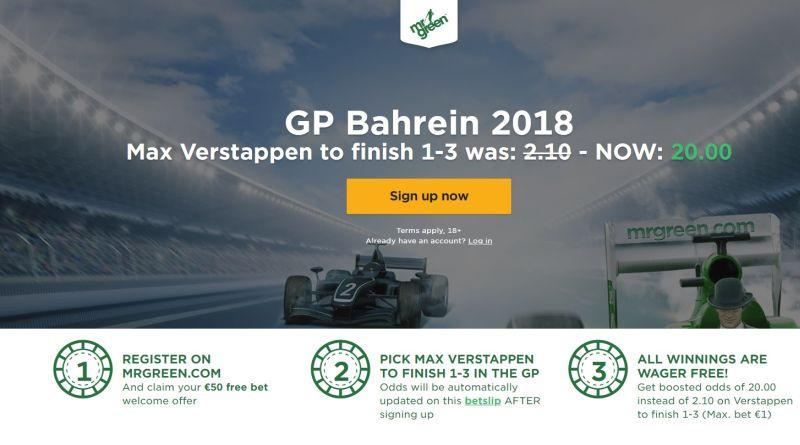 Wedden op Formule 1 GP Bahrein