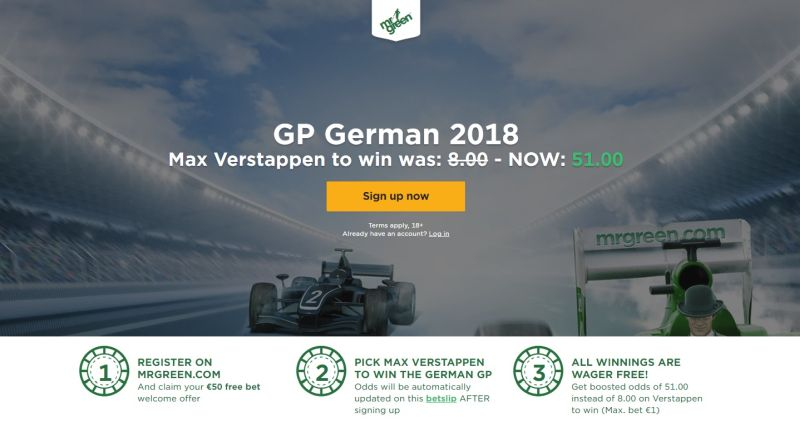 Wedden op Formule 1 GP Duitsland boost