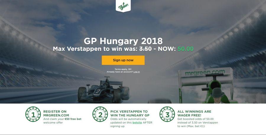 Wedden op Grand Prix Formule 1 Hongarije