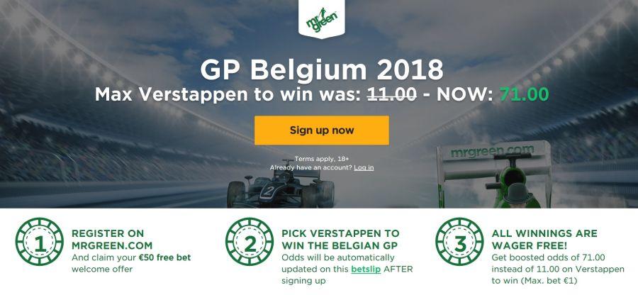 Wedden op Grand Prix Formule 1 België